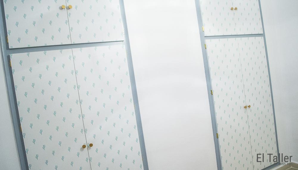 empapelar aglomerado puertas armario